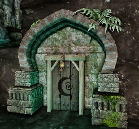 Ancient Ruins Door